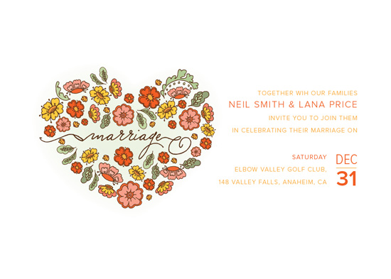 wedding invitations - From The Heart by Yvette Slaney