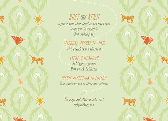 wedding invitations - damask meadow by Liza Ferneyhough