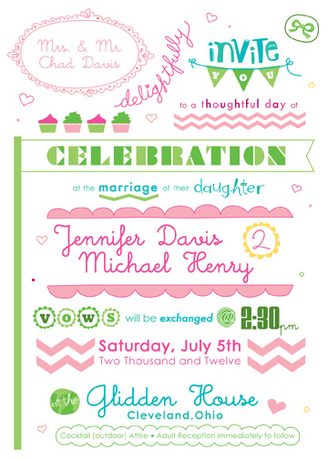 wedding invitations - a carnival spun of love by Melissa Cornet