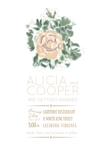 wedding invitations - Painted Rose by Joyrich Design Company