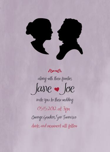 wedding invitations - Jane loves Joe by little dirigible