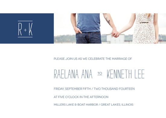 wedding invitations - Lakeview by AJCreative