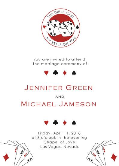 wedding invitations - casino night by Tati