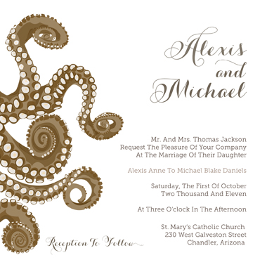 wedding invitations - Ocean of Love by Kristen Jasper
