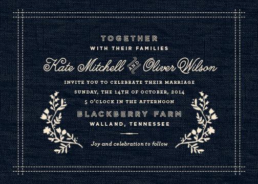 wedding invitations - Vintage Stitch by Oscar & Emma