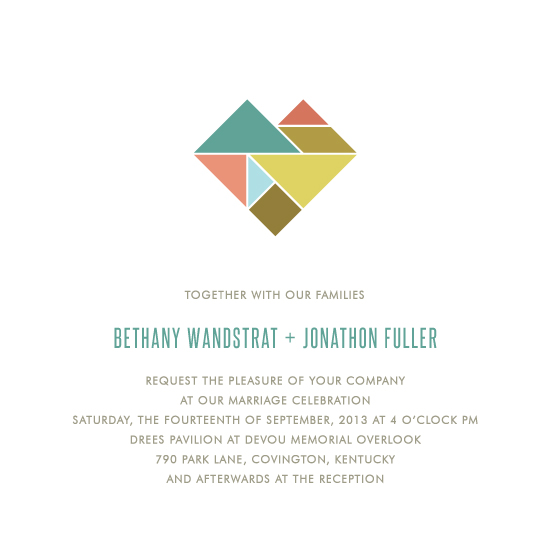 wedding invitations - Tangram Heart by Kim Dietrich Elam