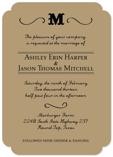 wedding invitations - Antebellum Elegance by Summer Smith