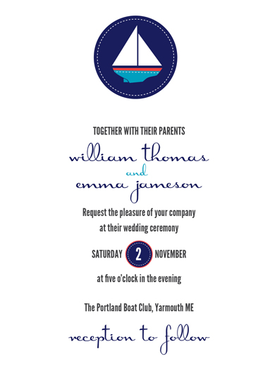 wedding invitations - Sail Away Together by Traci Marquis