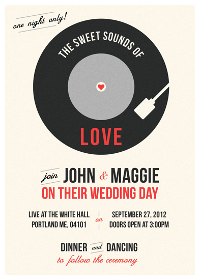 wedding invitations - The Sweet Sounds by Traci Marquis