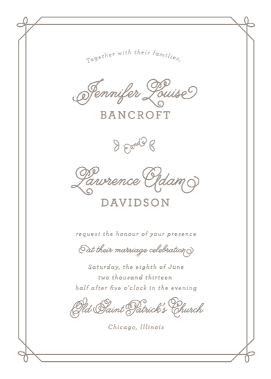 wedding invitations - Floral Corners by Kimberly FitzSimons