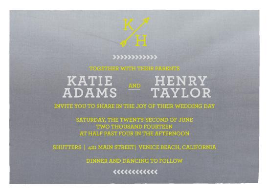 wedding invitations - Ombre Joy by Five Sparrows