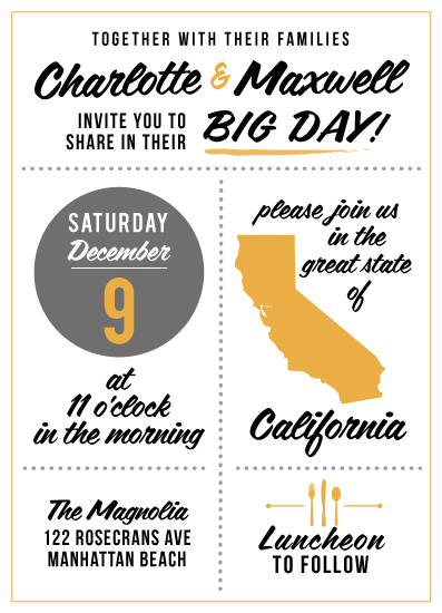 wedding invitations - Our Big Day by Five Sparrows