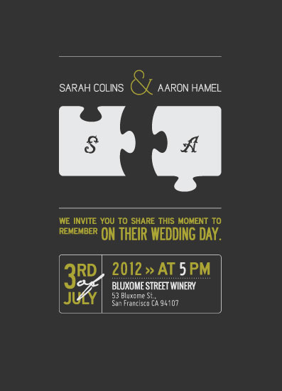 wedding invitations - Perfectly Matched by Jaesthetics