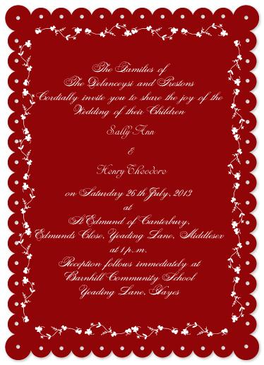 wedding invitations - Color of love by Adejoke Adedeji