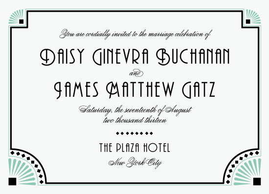 wedding invitations - The Great Gatsby by Cathy Haebe