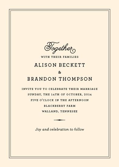 wedding invitations - Together Classic by Oscar & Emma
