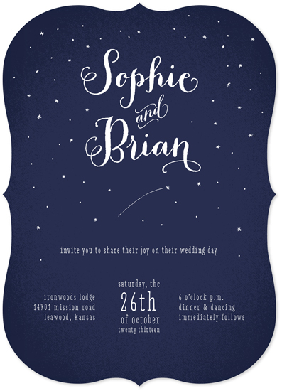 wedding invitations written in the stars at minted com