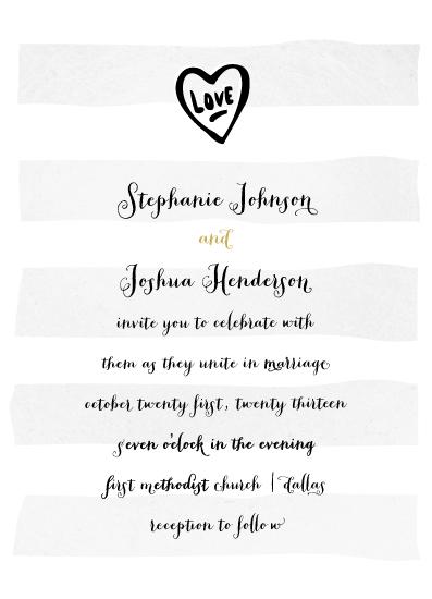 wedding invitations - big chief by Rebecca Bowen
