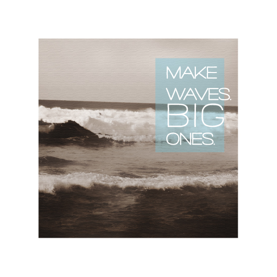 art prints - Make Waves by Noah and Olivia