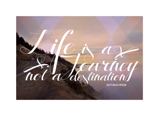art prints - Life is a journey not a destination by Becky Nimoy