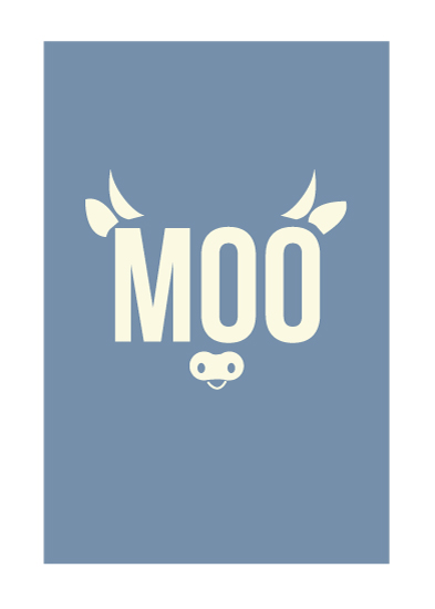 art prints - MooCow by Bethany Anderson