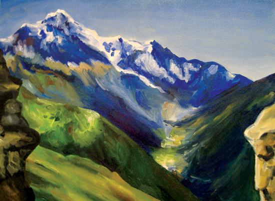 art prints - Mountain Journey by Julia Destrampe