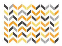 Broken Chevron Print by Sharise Williams