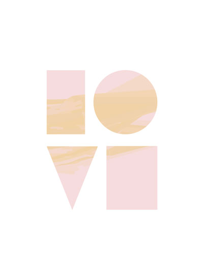 art prints - LOVE by AVA Design