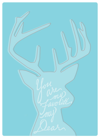 art prints - You Are My Favorite by Julia Destrampe