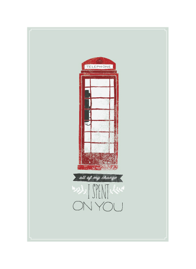 art prints - London Pay Phone by Rachel Marvin Creative