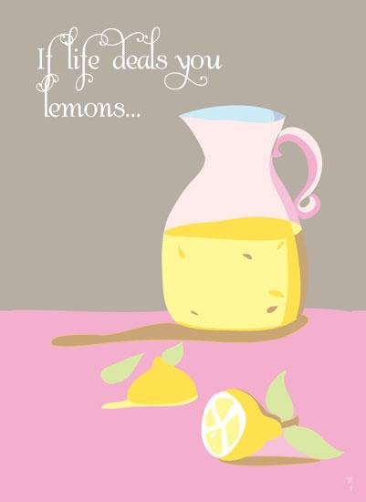 art prints - Make lemonade by Stellina Creations