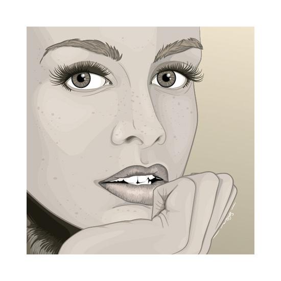 art prints - Twiggy by Selena Squarzanti