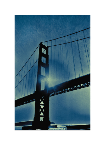 art prints - San Francisco Blue by Alexandra Nazari