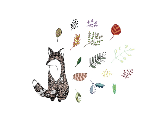art prints - Fall Fox Love by fox bear designs