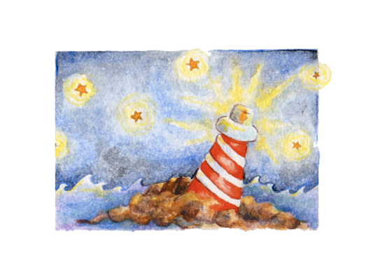 art prints - Shine a Little Light by My Blue Sparrow