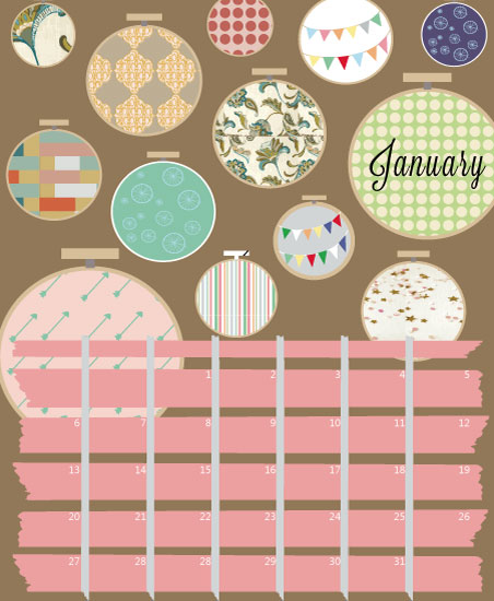 calendars - Sew Ready by Cut the Cake Designs