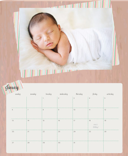 calendars - Simply Striped by Cut the Cake Designs