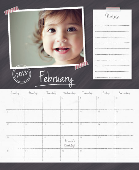calendars - Washi Chalkboard Notes by Beth Schneider
