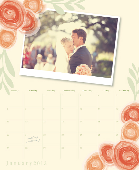 calendars - Bouquet of Roses by Kampai Designs