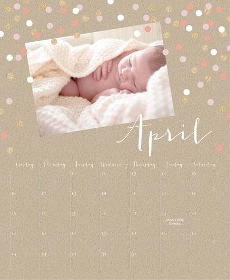 calendars - Glittering Confetti Calendar by Erin Deegan