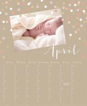 Glittering Confetti Calendar