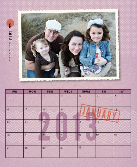 calendars - Just The Ticket by The Fine Letter Co.