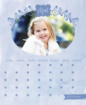 Watercolored Frame Calendar