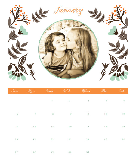 calendars - Whimsical Florals by Monica Schafer