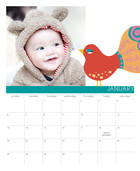 calendars - Sweet birdie by Stellina Creations