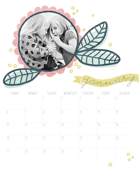 calendars - FizzleFlower by Muffin Grayson
