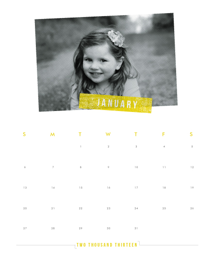 calendars - halftone by Up Up Creative