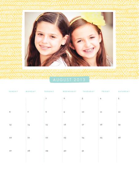 calendars - Handdrawn Herringbone by Jennifer Wick