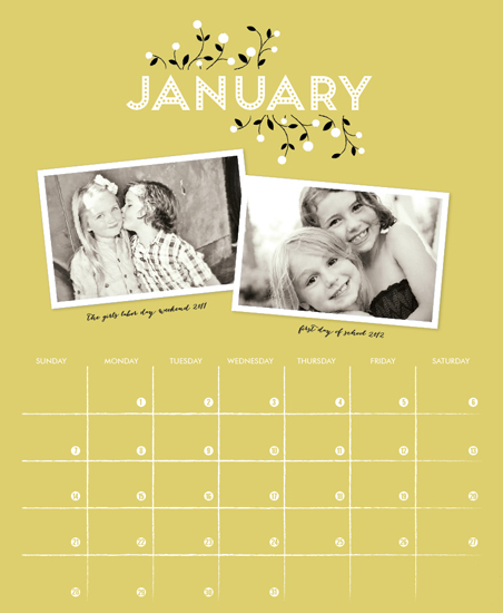 calendars - budding timetable by Cheer Up Press