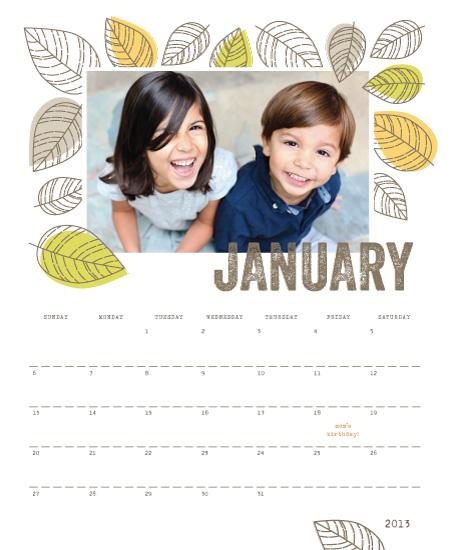 calendars - New Leaf by Smudge Design